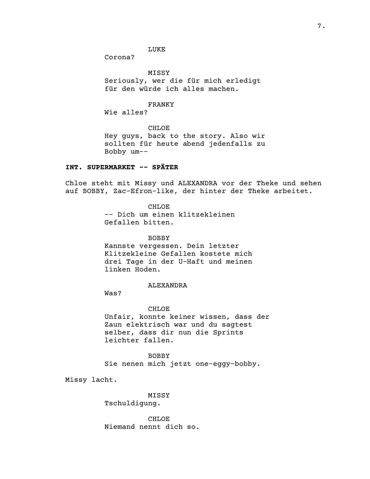 Professional Screenwriting